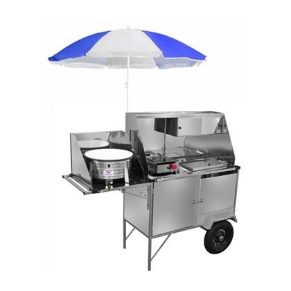 Carrinho 3 em 1 para Hot Dog Cefaz Lanches e Salgados Luxo Inox L28P/GS