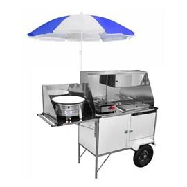 Carrinho 3 em 1 para Hot Dog Cefaz Lanches e Salgados Luxo Linha Branca BL28P/GS