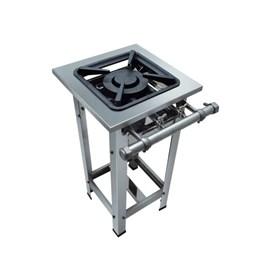 Fogão Industrial 1 boca dupla 30X30 Aço Inox Metalmaq
