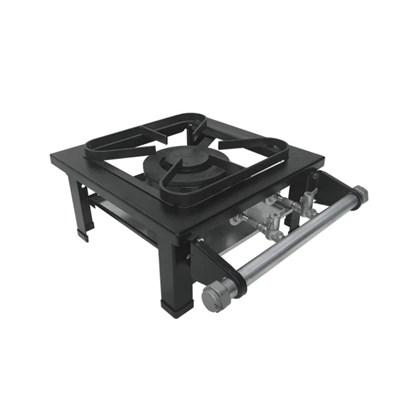Fogão Industrial 1 boca dupla de mesa 30X30 S2020 Metalmaq