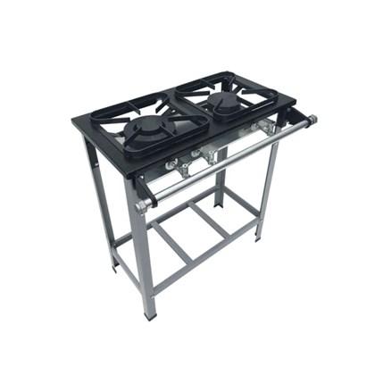 Fogão Industrial 2 bocas 30X30 S2020 Metalmaq