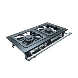 Fogão Industrial 2 bocas de Mesa 40X40 Luxo Metalmaq