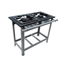 Fogão Industrial 2 bocas Duplas 40X40 Luxo Metalmaq