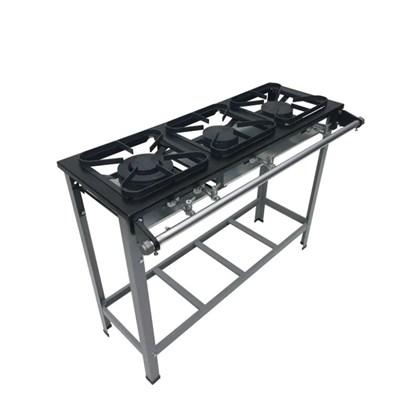 Fogão Industrial 3 bocas 30X30 S2020 Metalmaq