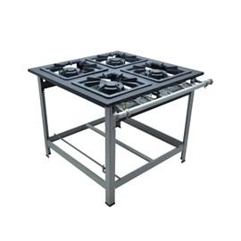 Fogão Industrial 4 bocas 40X40 P9 Centro de Cozinha Luxo Metalmaq
