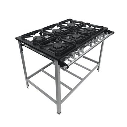 Fogão Industrial 6 Bocas 30X30 S2020 Metalmaq