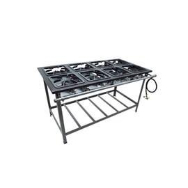 Fogão Industrial 8 bocas 40X40 Centro de Cozinha Metalmaq