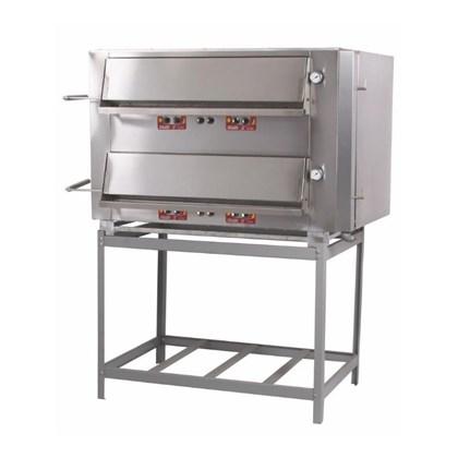 Forno Industrial a Gás 90X70 400°C 2 Câmaras Metalmaq