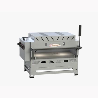 Forno Pizza Grill Fixo Refratário Luxo a Gás 100x50 com Infravermelho Itajobi