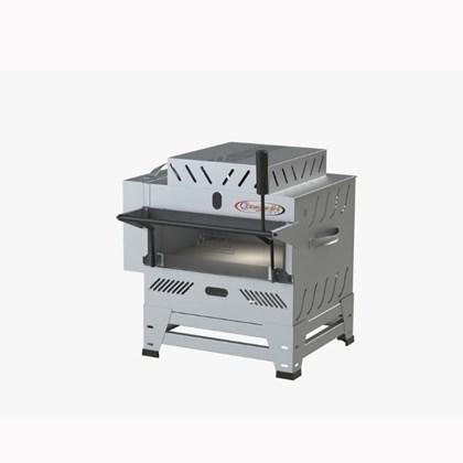 Forno Pizza Grill Fixo Refratário Luxo a Gás 48x42 com 2 Infravermelho Itajobi