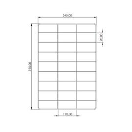 Grade para Forno Industrial Guilhotina 80x60 Metalmaq
