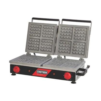 Máquina de Waffle Elétrica Belgian Dupla Croydon MWQD