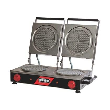 Máquina de Waffle Elétrica Redonda Dupla Croydon MWRD