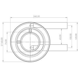 Queimador Duplo Curto 450GR/h S2020 Metalmaq