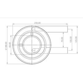 Queimador Duplo Curto 600GR/h Metalmaq