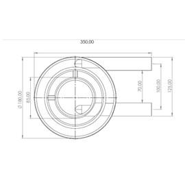 Queimador Duplo Longo 600GR/H Metalmaq