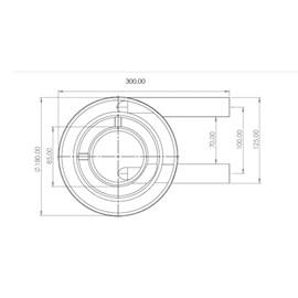 Queimador Duplo Médio 600GR/H Metalmaq